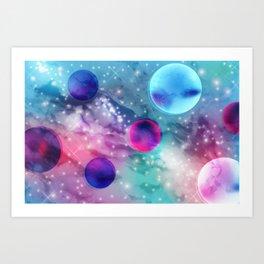 Vaporwave Pastel Space Mood Art Print