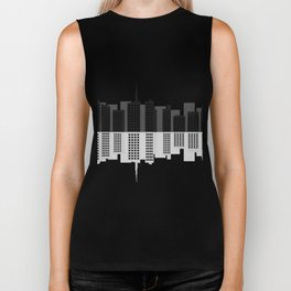 city skyline Biker Tank