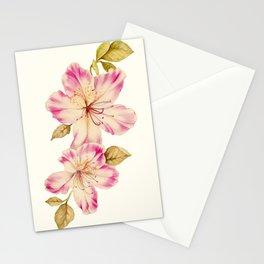 Azalea Watercolor Painting 2 Stationery Cards
