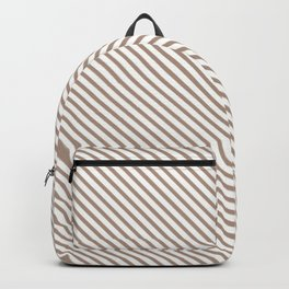Warm Taupe Stripe Backpack