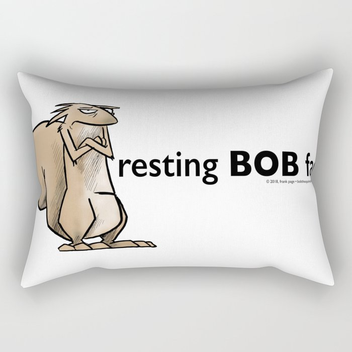 Resting Bob Face Rectangular Pillow