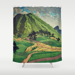 Crossing people's land in Iksey Shower Curtain