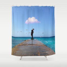 The Man Who Spoke To Birds Shower Curtain