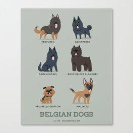 BELGIAN DOGS Canvas Print