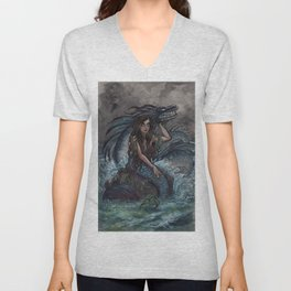 Mermaid and Sea Dragon Unisex V-Neck