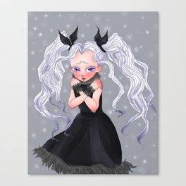 La fille du glace Canvas Print