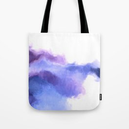 Purple Sky, White Light - abstract Tote Bag