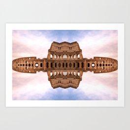 Mirror Coliseum II Art Print