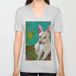 Chihuahua Love Unisex V-Neck