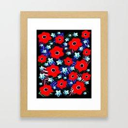 Poppies & Columbines Framed Art Print