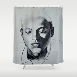 Shadow Girl Shower Curtain
