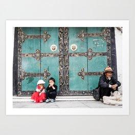 Tibetan Souls Art Print