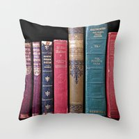 library Throw Pillows featuring library by Liudvika's Lens