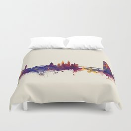 Basel Switzerland Skyline Duvet Cover