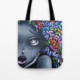 girl letters grafitti Tote Bag