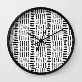 Modern Mud Cloth Collection #2 Wall Clock