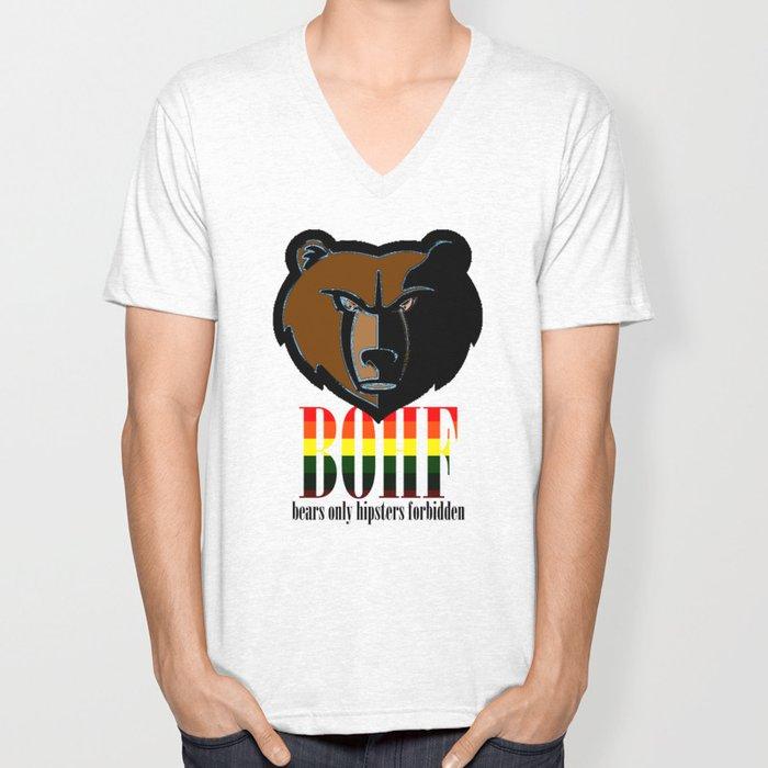 Bears only I Unisex V-Neck
