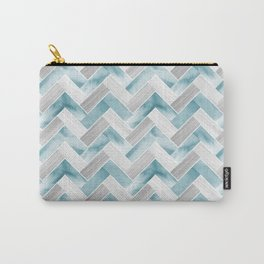 Parquetry in Watercolour - Powder Blue Carry-All Pouch