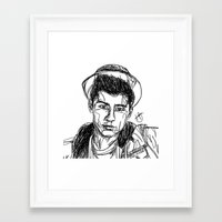 zayn malik Framed Art Prints featuring Zayn Malik by Hollie B