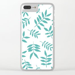 Background with branch silhouettes. Clear iPhone Case