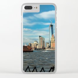 Freedom Tower 2013 w/ Boat Clear iPhone Case