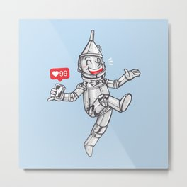 WE CAN'T LIVE WITHOUT SOCIAL MEDIA Metal Print