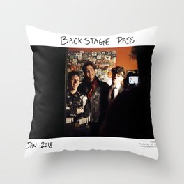 Birds in the Boneyard, Print 17: Backstage Pass Throw Pillow