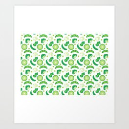 Mixed Green Vegetables Art Print