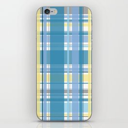Blue and Yellow Tartan iPhone Skin