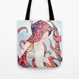 peeking tentacle Tote Bag
