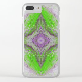 Psycho - Green Slime and Purple Fancy in a Reptile Universe by annmariescreations Clear iPhone Case