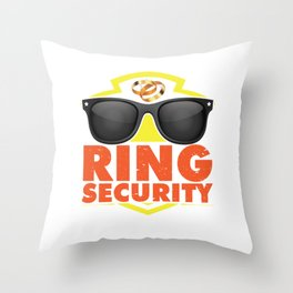 Groomsmen Marriage Bachelor Party Stag Night Bridegroom Ring Security Gift Throw Pillow