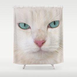 WHITE DELIGHT Shower Curtain