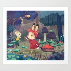 I Love You Bunny Art Print