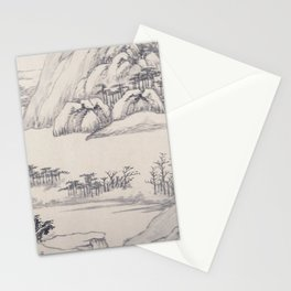 River Landscape in Autumn Stationery Cards