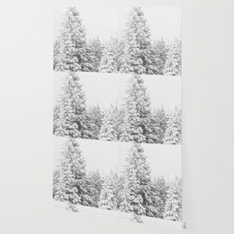 Chairlift Abyss // Black and White Chair Lift Ride to the Top Colorado Mountain Artwork Art Print Wallpaper