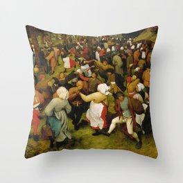 """Pieter Bruegel (also Brueghel or Breughel) the Elder """"Wedding Dance in the Open Air"""" Throw Pillow"""