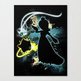 Super Smash Bros. Rosalina Silhouette Canvas Print