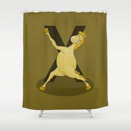 Monogram X Pony Shower Curtain