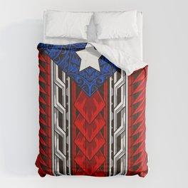 Puerto Rican Tribal Flag - Modern Boricua Comforters