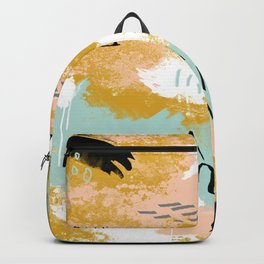 Presence of Life, Abstract Tribal Art Backpack