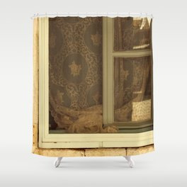 lace curtains in alacati Shower Curtain