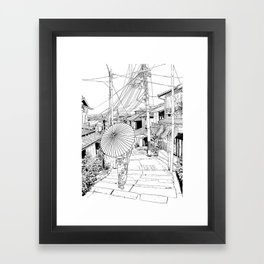 Kyoto - the old city Framed Art Print