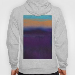 Lake View On A Foggy Morning in Violet, Blue and Orange 2 Hoody