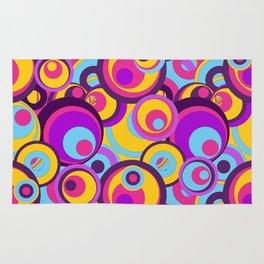 Retro Circles Groovy Colors Rug