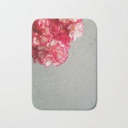 Corner  Pink Carnations Bath Mat