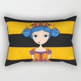 River the Tea Girl Rectangular Pillow