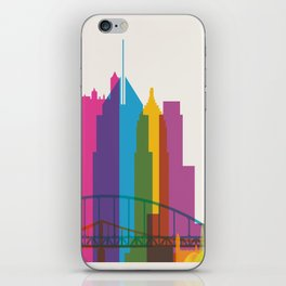 Shapes of Pittsburgh. Accurate to scale iPhone Skin