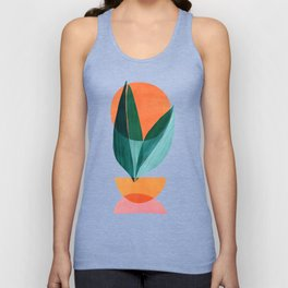Nature Stack II / Abstract Shapes Illustration Unisex Tank Top