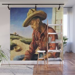 Classical Masterpiece 'The Waterboy' by Thomas Hart Benton Wall Mural
